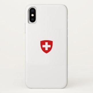 Coque iPhone X Manteau des bras suisse - souvenir de la Suisse