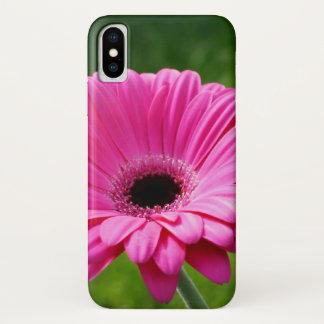 Coque iPhone X Marguerite rose et verte de Gerbera