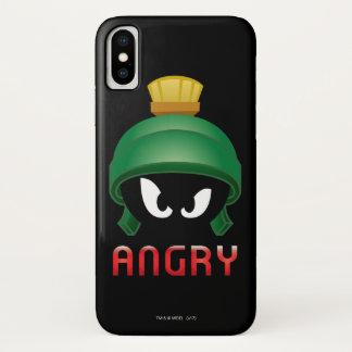 Coque iPhone X MARVIN le MARTIAN™ Emoji fâché