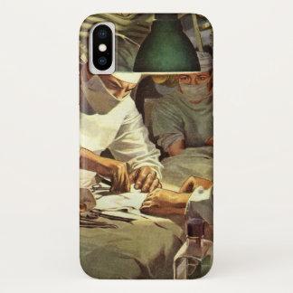 Coque iPhone X Médecine vintage, médecins Performing Surgery dans