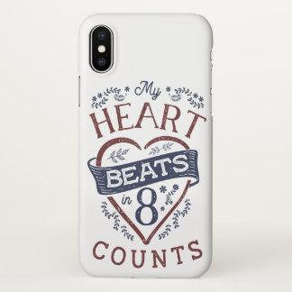 Coque iPhone X Mes battements de coeur dans la danse de 8 comptes