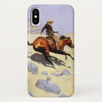 Coque iPhone X Militaires vintages de cavalerie, le cowboy par