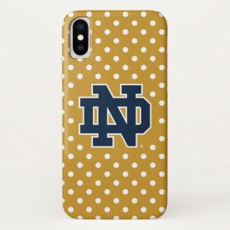 Coque iPhone X Mini pois de Notre Dame |