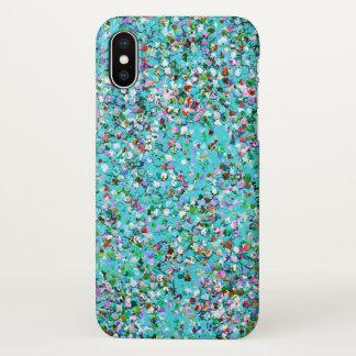 Coque iPhone X Mode #10 de peinture multicolore de parties