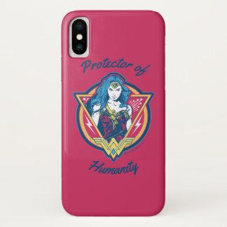 Coque iPhone X Modèle graphique tricolore de femme de merveille