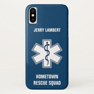 Coque iPhone X Modèle nommé de l'infirmier EMT SME