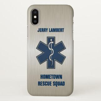 Coque iPhone X Modèle nommé de luxe d'infirmier