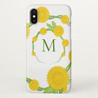 Coque iPhone X Monogramme | de fleur de pissenlit
