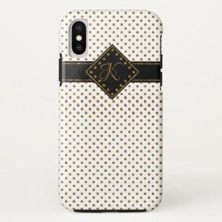 COQUE iPhone X   MONOGRAMME DE MOTIF DE POIS DE PARTIES