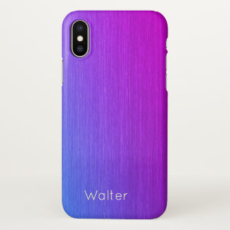 Coque iPhone X Monogramme d'éclat de Miami