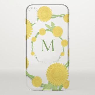 Coque iPhone X Monogramme floral | de pissenlit