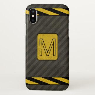 Coque iPhone X Monogramme grunge industriel