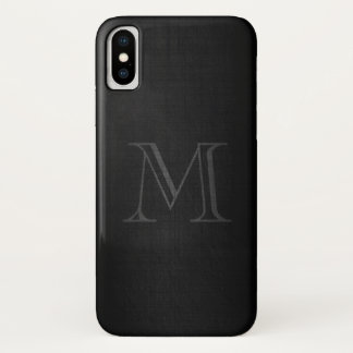Coque iPhone X Monogramme pour les hommes avec le regard de toile
