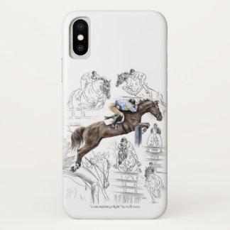 Coque iPhone X Montage de barrières de chevaux de pullover