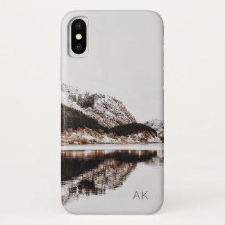 Coque iPhone X Montagnes faites sur commande de l'affaire   de