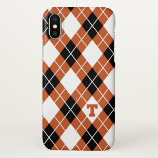 Coque iPhone X Motif à motifs de losanges de l'Université du
