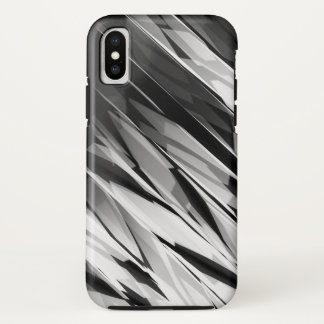 Coque iPhone X Motif abstrait B&W1 - cas de l'iPhone X d'Apple