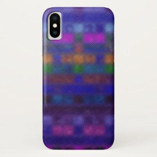 Coque iPhone X Motif abstrait en verre de mosaïque