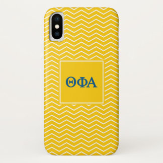 Coque iPhone X Motif de l'alpha | Chevron de phi de thêta