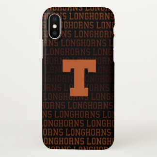 Coque iPhone X Motif de logo de l'Université du Texas |