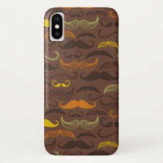 Coque iPhone X Motif de moustache, rétro style 5