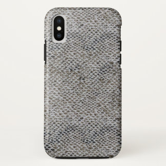 Coque iPhone X Motif de noir et de peau de serpent de Brown