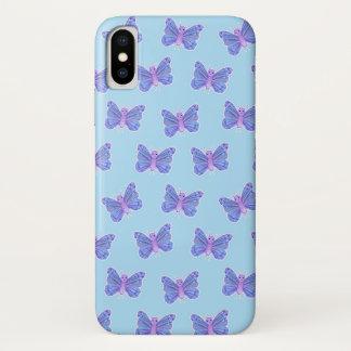Coque iPhone X Motif de papillon - cas de téléphone