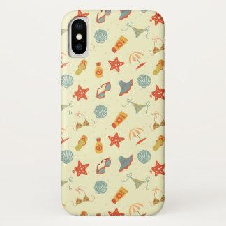 Coque iPhone X Motif de plage d'été