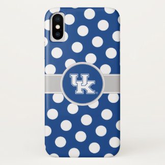 Coque iPhone X Motif de point BRITANNIQUE de polka du Kentucky  