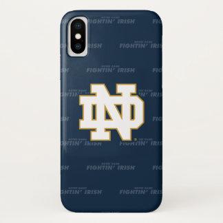 Coque iPhone X Motif de répétition de Notre Dame |