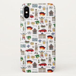 Coque iPhone X Motif de symboles de l'Allemagne |