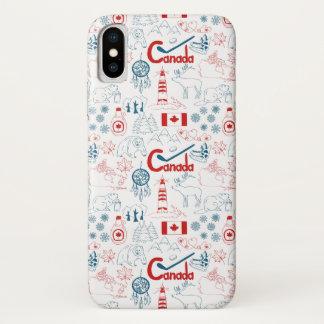 Coque iPhone X Motif de symboles du Canada |
