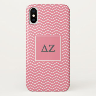 Coque iPhone X Motif de Zeta | Chevron de delta