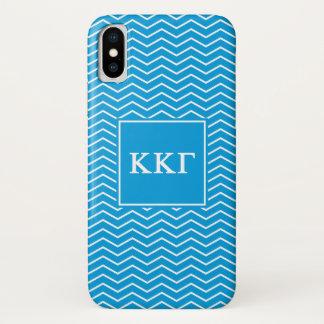 Coque iPhone X Motif du gamma | Chevron de Kappa de Kappa