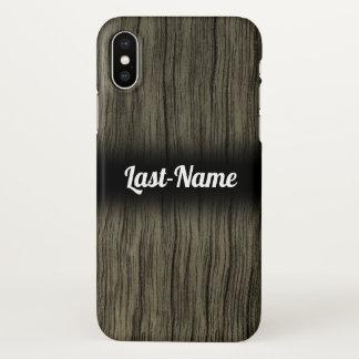Coque iPhone X Motif en bois de regard de Faux rustique avec le