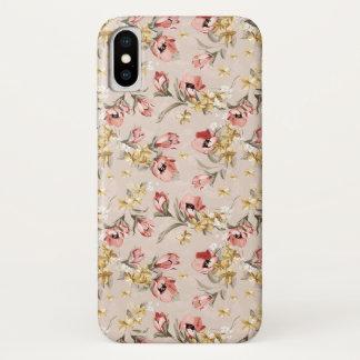 Coque iPhone X Motif floral 3 d'élégance abstraite