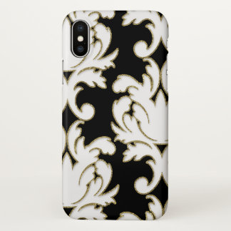 Coque iPhone X Motif floral chic de damassé
