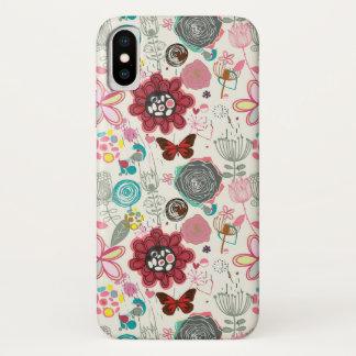 Coque iPhone X Motif floral dans le rétro style 5