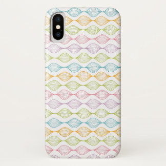 Coque iPhone X Motif horizontal coloré d'ogee