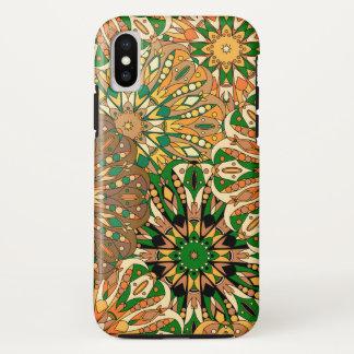 Coque iPhone X Motif indien coloré de la conception | de mandala