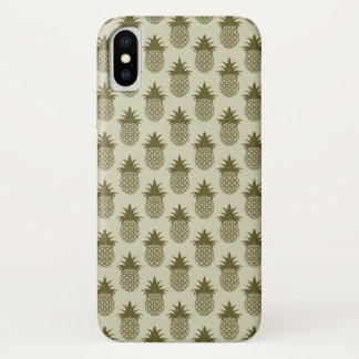 Coque iPhone X Motif kaki d'ananas