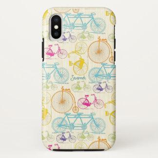 Coque iPhone X Motif lumineux de vélo de couleurs de fille