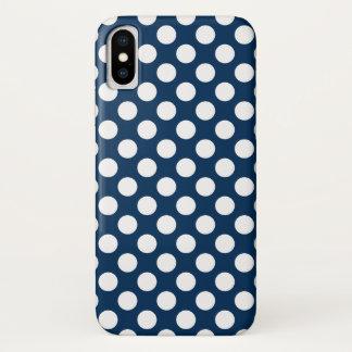 Coque iPhone X Motif mignon de pot de polka avec les points