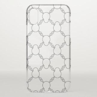 Coque iPhone X Motif noir et blanc de crâne et d'os