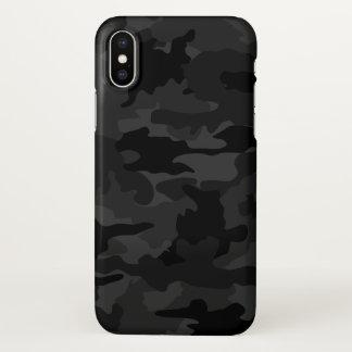 Coque iPhone X Motif noir et gris frais de Camo de camouflage
