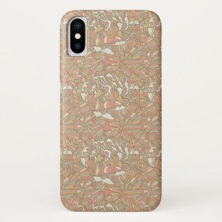 Coque iPhone X Motif romantique fait de fleurs de pivoine