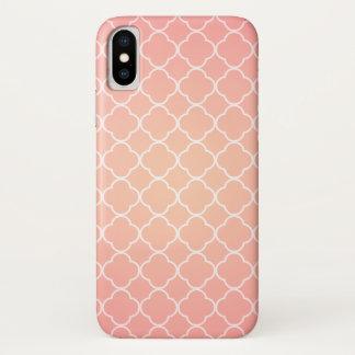Coque iPhone X Motif rose de corail de Quatrefoil