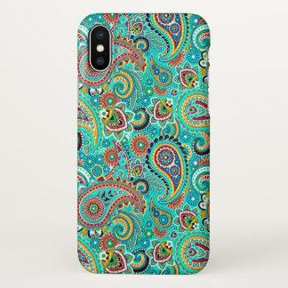 Coque iPhone X Motif sans couture coloré de Paisley