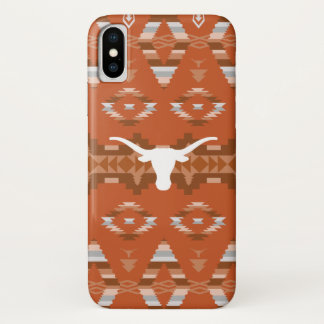Coque iPhone X Motif tribal indigène de l'Université du Texas |