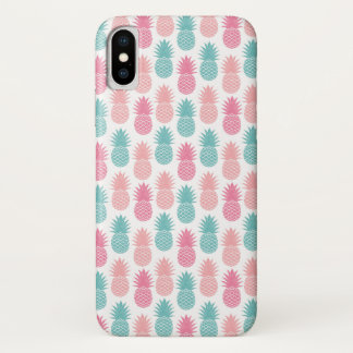 Coque iPhone X Motif vintage d'ananas